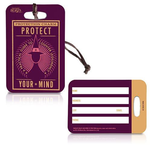 Fantastic Beasts and Where to Find Them Protection Charm Luggage Tag