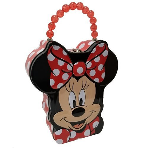 Minnie Mouse Head Shape Carry All Tin Tote