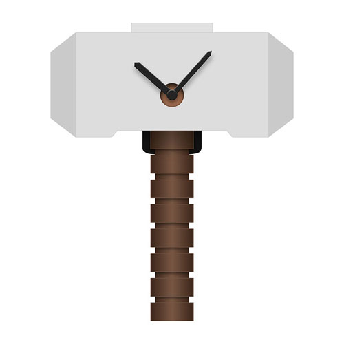 Thor's Hammer Wobble Wall Clock