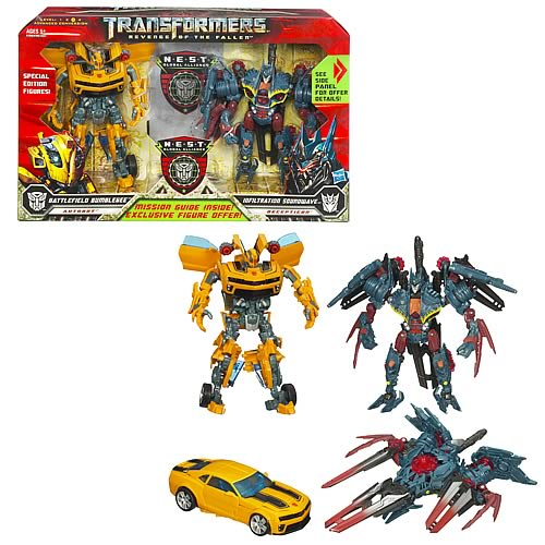Transformers Revenge Fallen Bumblebee & Soundwave NEST Set