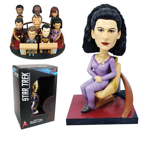 Star Trek: The Next Generation Troi Build-a-Bridge Deluxe Bobble Head 6 of 8