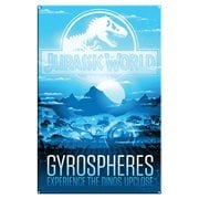 Jurassic World Gyrospheres Large Metal Sign