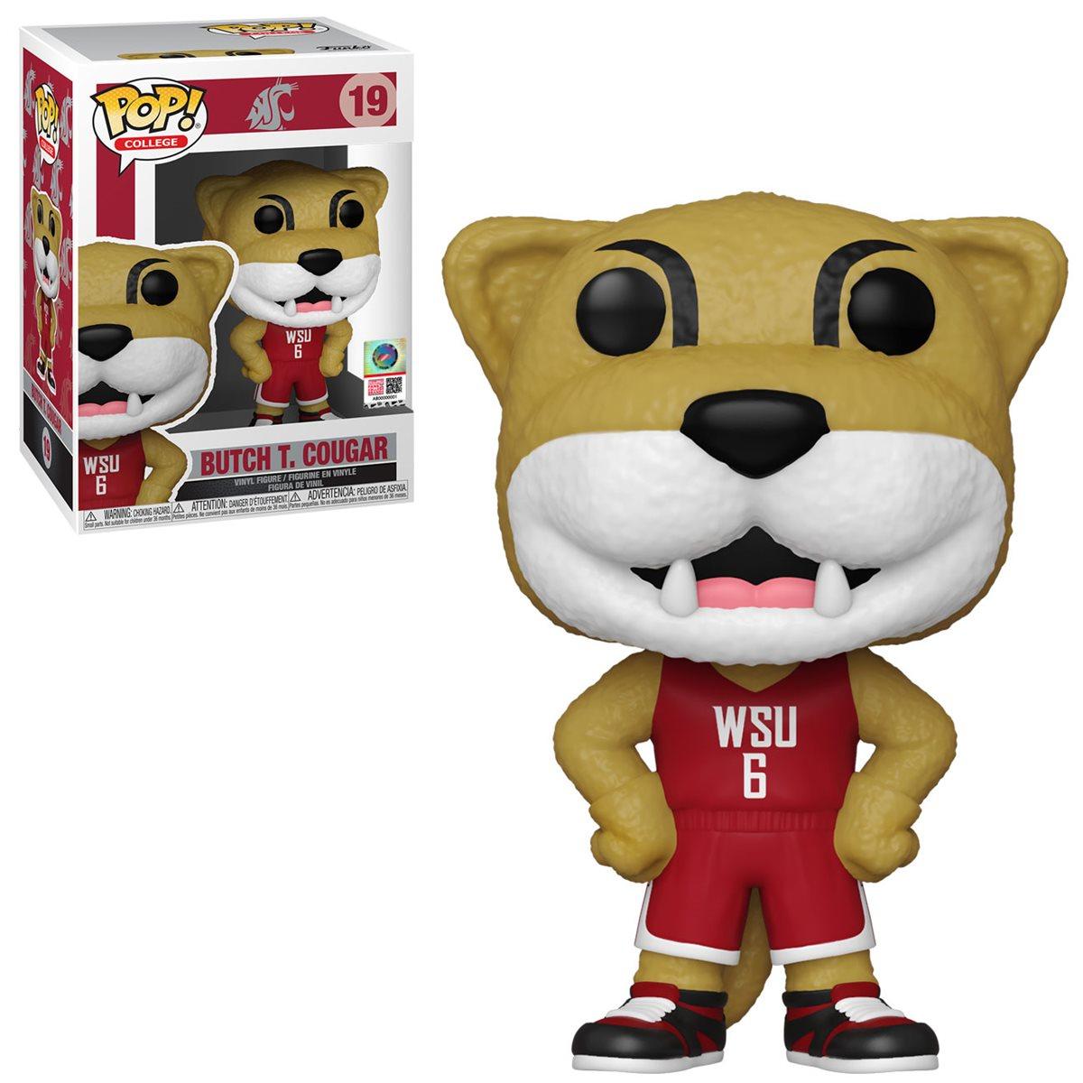 Vinyl Figure Harry The Husky Pop Includes Compatible Pop Box Protector Case Funko Pop College Mascots: University of Washington