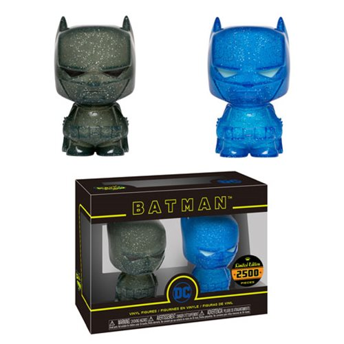 Batman Blue and Grey Hikari XS Vinyl Figure 2-Pack, Not Mint