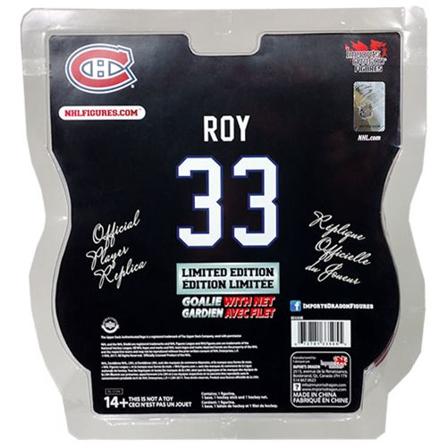 NHL Montreal Canadiens Patrick Roy 6-Inch Action Figure with Net