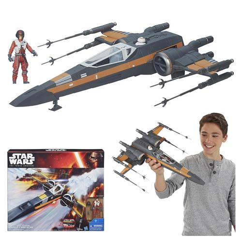 Star Wars: The Force Awakens Class III Deluxe Resistance X-Wing Fighter Vehicle