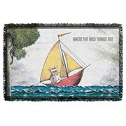 Where the Wild Things Are Max's Boat Woven Tapestry Throw Blanket