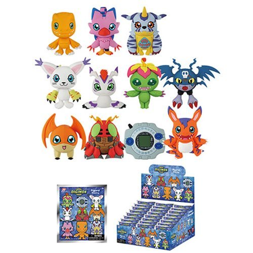 Digimon 3-D Figural Key Chain Random 6-Pack