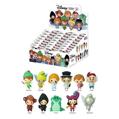 Peter Pan 3D Figural Key Chain Random 6-Pack