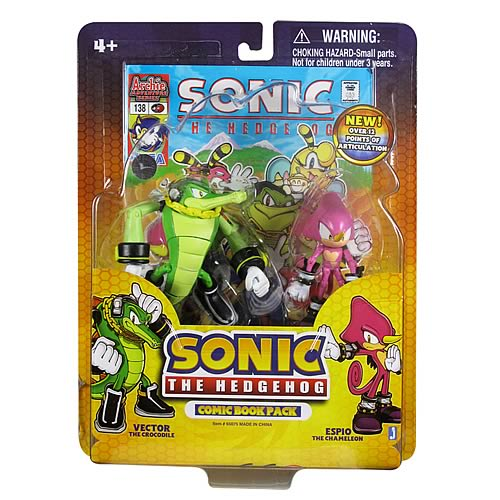 Sonic The Hedgehog Vector And Espio Comic 2 Pack Entertainment Earth