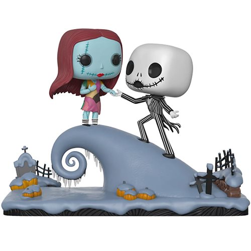 Tim Burton Nightmare Before Christmas Jack And Sally.Nightmare Before Christmas Jack And Sally On The Hill Pop Vinyl Figure Movie Moments