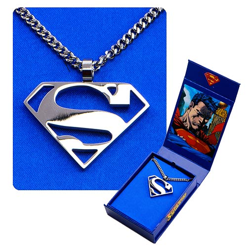 Superman Logo Cutout S Pendant And Chain Necklace Entertainment Earth
