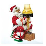 A Christmas Story Santa with Leg Lamp 9-Inch Light-Up Tablepiece Statue