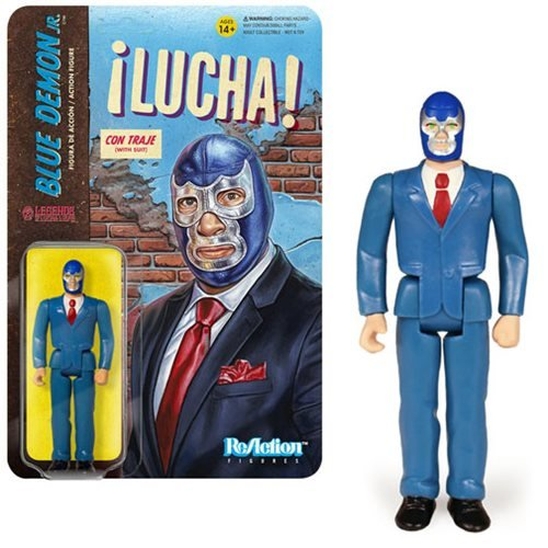 Legends of Lucha Libre Blue Demon Jr. in Suit ReAction Figure