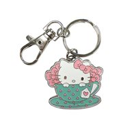 Hello Kitty Tea Time Metal Key Chain
