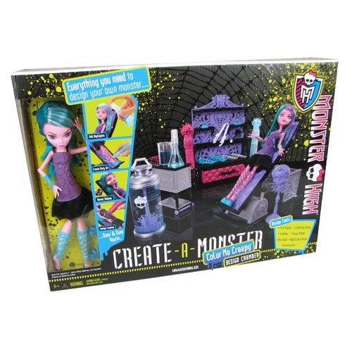Monster High Create-a-Monster Color Me Creepy Design Chamber Playset