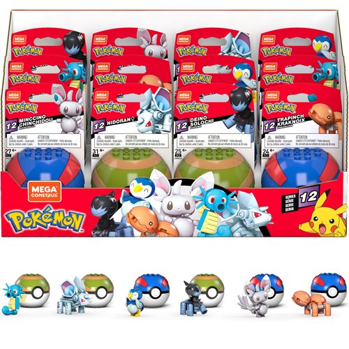 Mega Construx Pokemon Poke Ball Series 12 Case