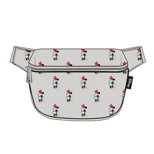 Minnie Mouse Gray Fanny Pack