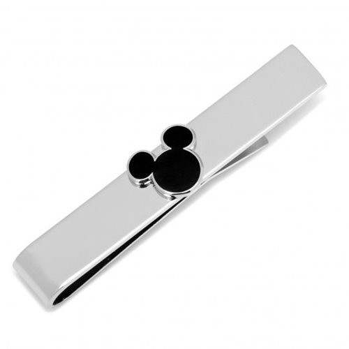 Mickey Mouse Silhouette Black Tie Bar