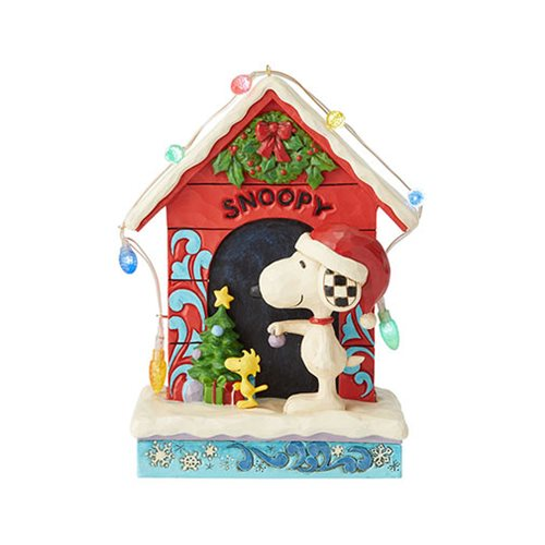 Peanuts Snoopy by Dog House Merry and Bright by Jim Shore Statue