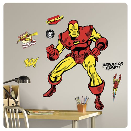 Iron Man Classic Comic Peel and Stick Giant Wall Decals