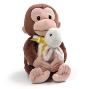 Curious George Holding Bunny 10-Inch Plush