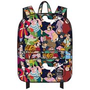 Peter Pan Character Print Nylon Backpack