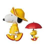 Peanuts Raincoat Snoopy and Woodstock UDF Mini-Figure 2-Pack