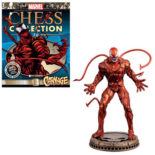 Marvel Carnage Black Pawn Chess Piece with Collector Magazine