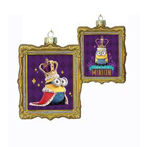 Despicable Me Minions King Bob Glass Frame Ornament Set
