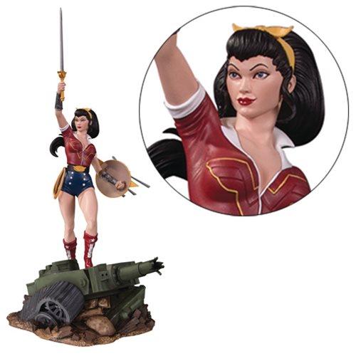 dc bombshells wonder woman deluxe 59439 statua 40cm
