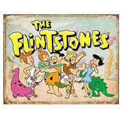 The Flintstones Family Retro Tin Sign