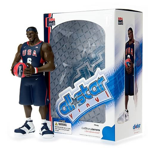 the best attitude 29543 b6d13 NBA All-Star LeBron James (Team USA Jersey) Vinyl Figure