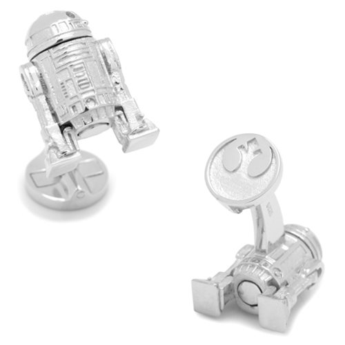 Star Wars R2-D2 3D Sterling Silver Cufflinks