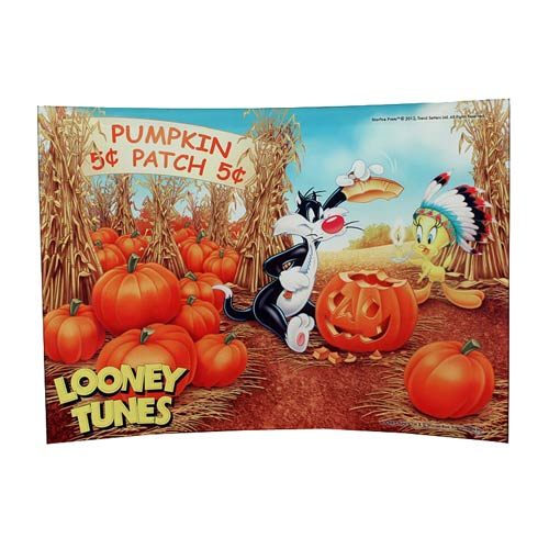 Looney Tunes Pumpkin Patch Curved Glass StarFire Print