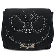 Nightmare Before Christmas Jack Skellington Studded Flap Crossbody Purse