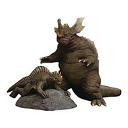 Godzilla Kaiju Series Baragon and Varan 1968 Version Sofubi Vinyl Figures - Previews Exclusive