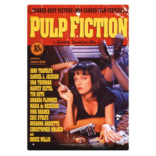 Pulp Fiction One Sheet Tin Sign