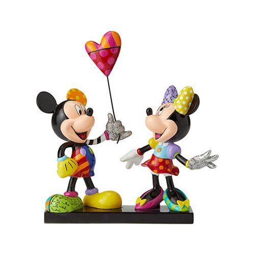 Disney Mickey Mouse and Minnie Statue by Romero Britto