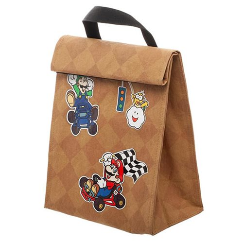 Super Mario Bros. Mario Kart Roll-Top Insulated Lunch Bag
