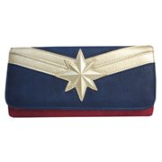 Captain Marvel Faux Leather Flap Wallet