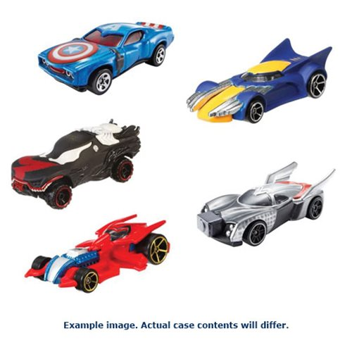 Hot Wheels Marvel Character Cars 1:64 Scale 2016 Wave 3 Case