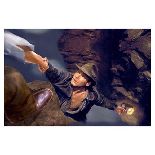 Indiana Jones and the Last Crusade Hand from Above by Masey Canvas Giclee Art Print