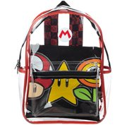 Super Mario Clear Backpack with Removable Pouch