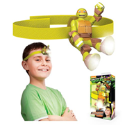 Nickelodeon Teenage Mutant Ninja Turtles Michelangelo Head Lamp Flashlight