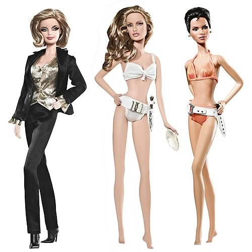 James Bond Girls Barbie Doll Assortment Case