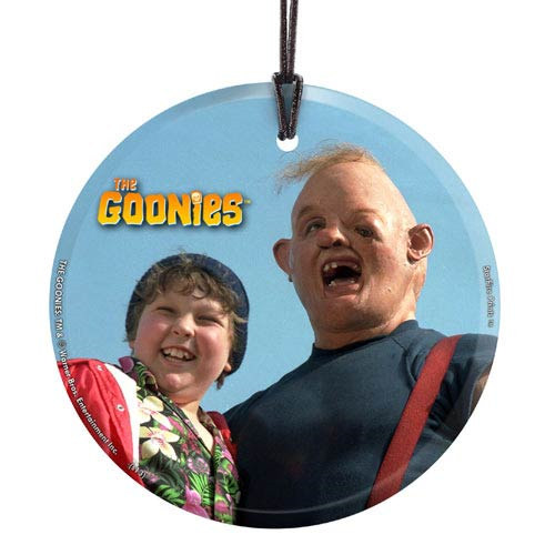 The Goonies Sloth and Chunk Hanging Glass Print