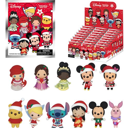 Disney Christmas Figural Key Chain Random 6-Pack