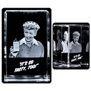 I Love Lucy Vitameatavegamin Small 3D Laser Crystal
