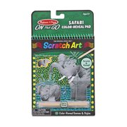 Melissa & Doug Fairy Tales Safari Scratch Art Color Reveal Pad